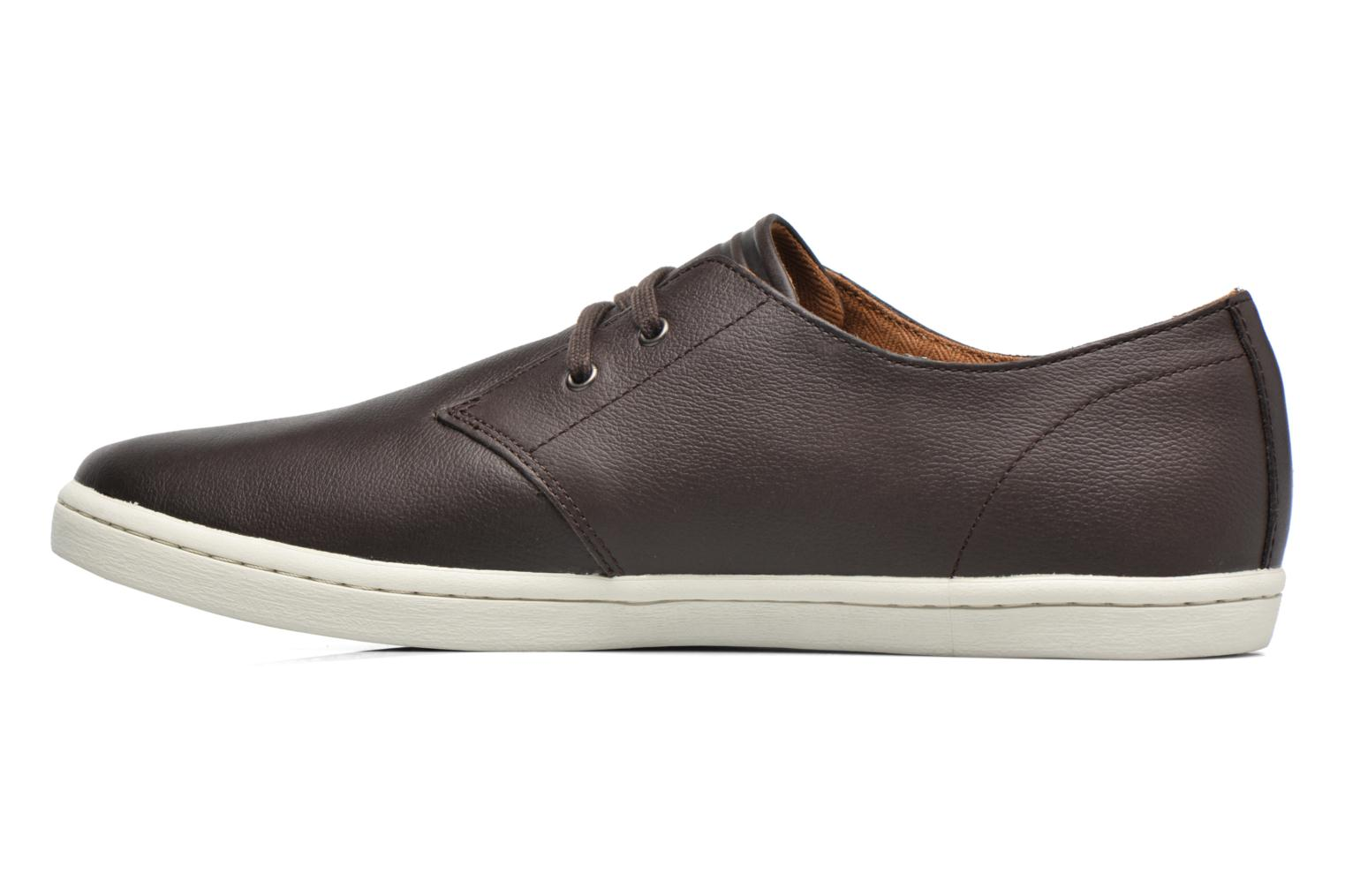 Baskets Fred Perry Byron Low Suede Marron vue face