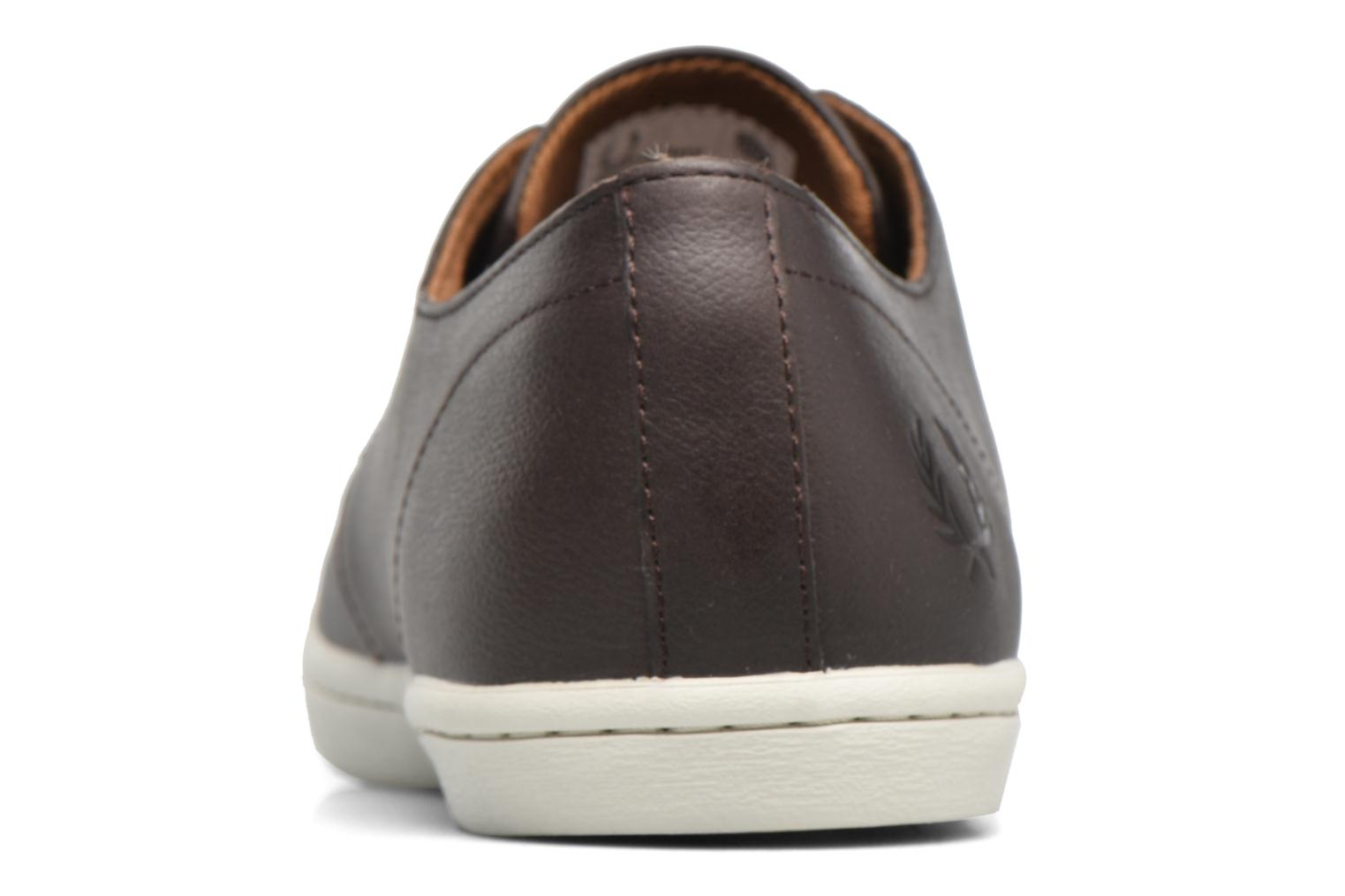 Baskets Fred Perry Byron Low Suede Marron vue droite