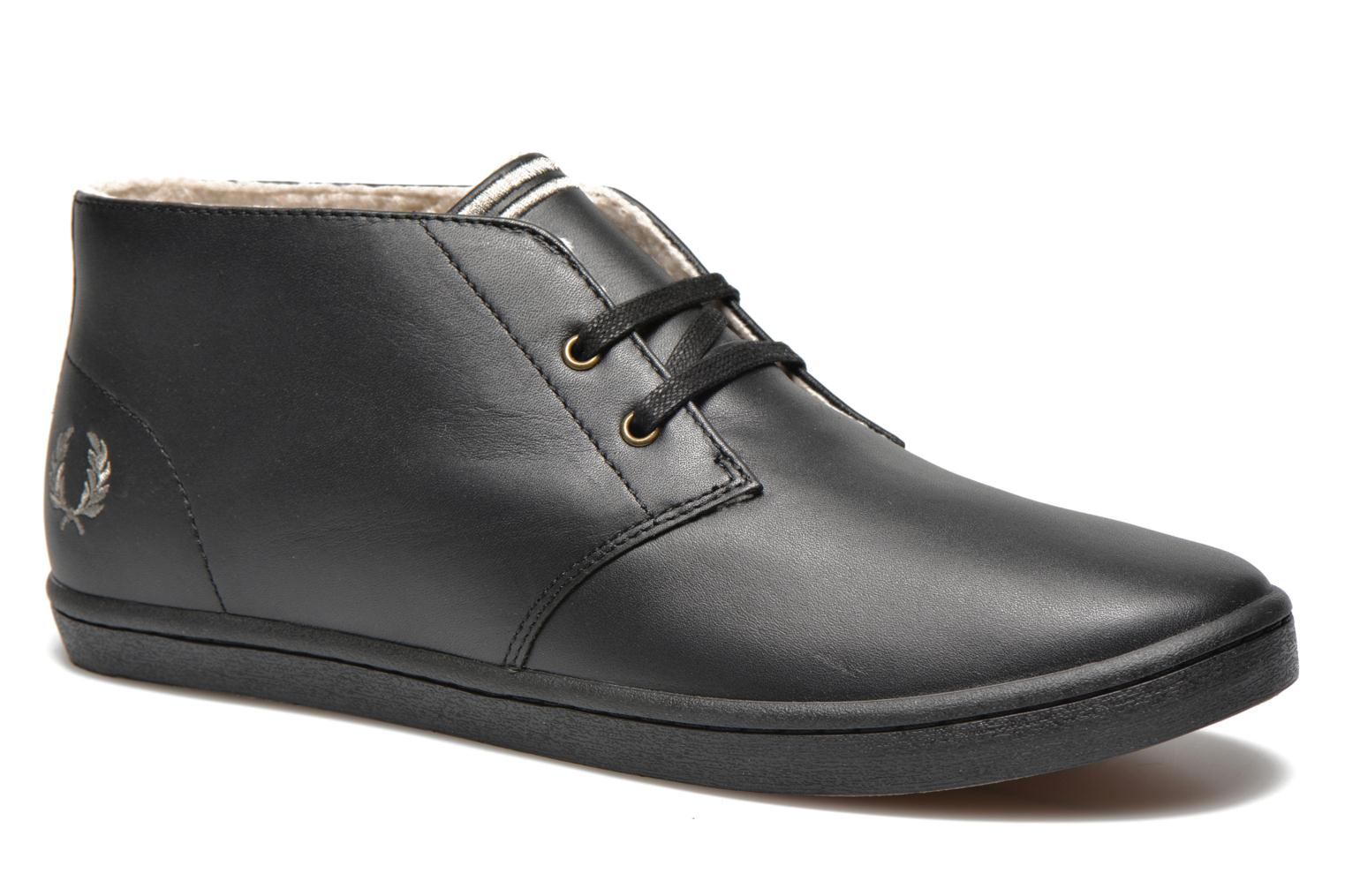 Fred Perry Byron Mid Leather Noir 99m1lbx