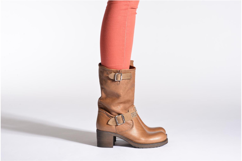 Bottines et boots Georgia Rose Martine Marron vue bas / vue portée sac