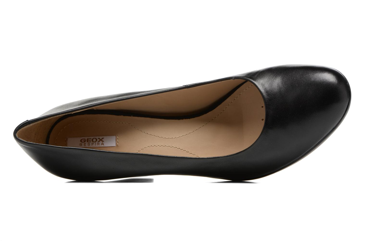High heels Geox D INSPIRATION C D54R4C Black view from the left
