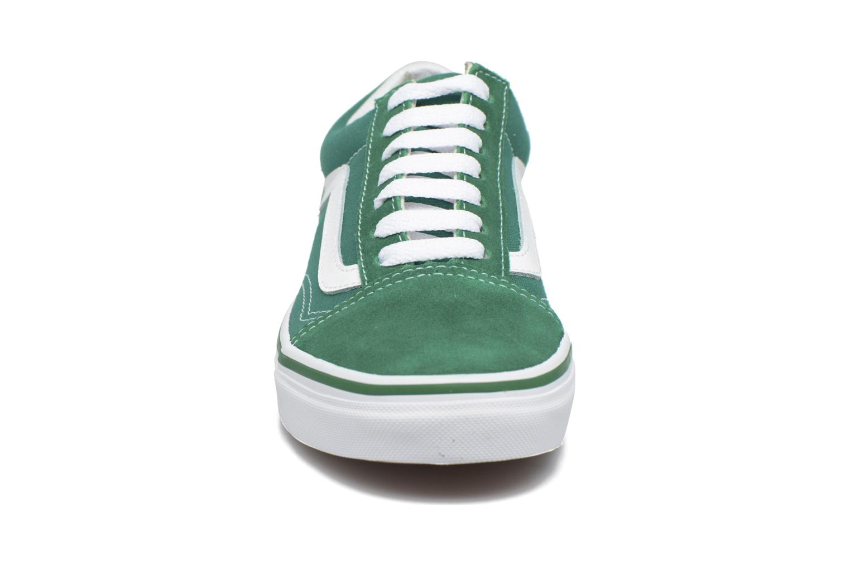 Baskets Vans Old Skool E Vert vue portées chaussures