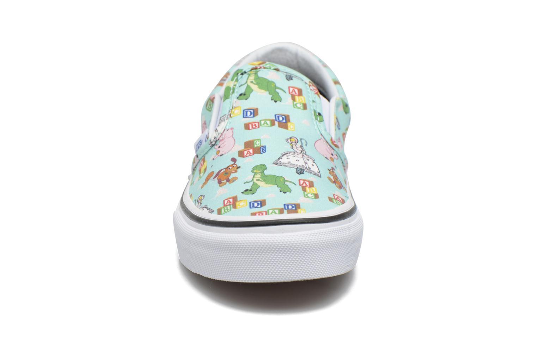Baskets Vans Slip-On Bleu vue portées chaussures