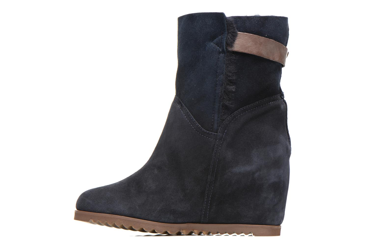 Maddie Velour Space/Shearling Navy