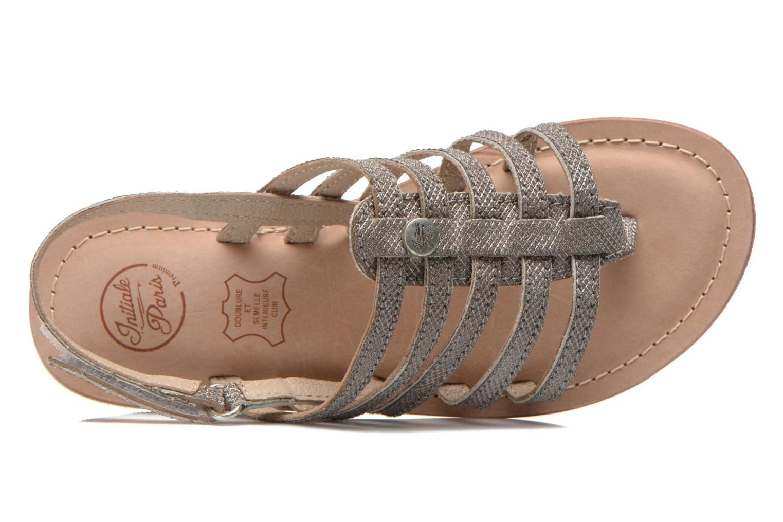 Sandales et nu-pieds Initiale Paris Menthe K Argent vue gauche