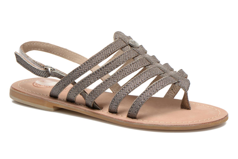 Sandales et nu-pieds Initiale Paris Menthe K Argent vue détail/paire