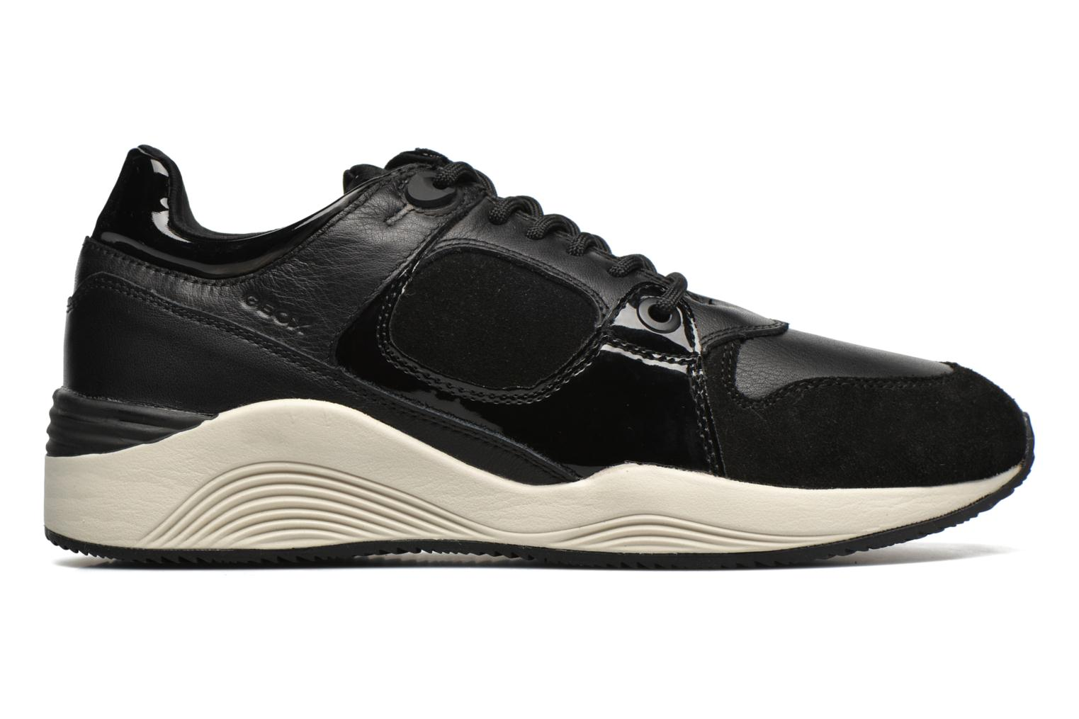 Trainers Geox D OMAYA A D540SA Black back view