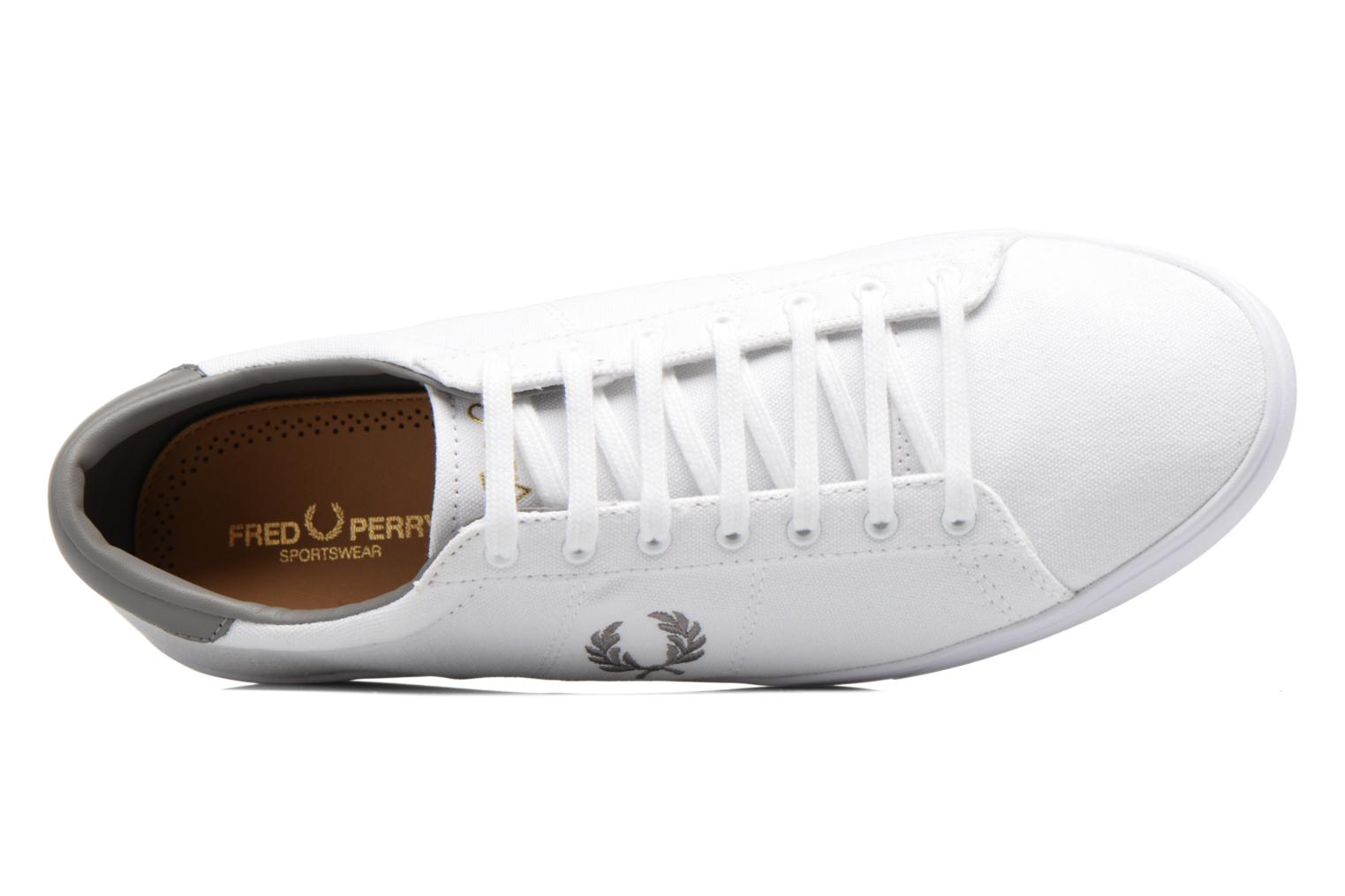 Baskets Fred Perry Spencer Canvas Blanc vue gauche
