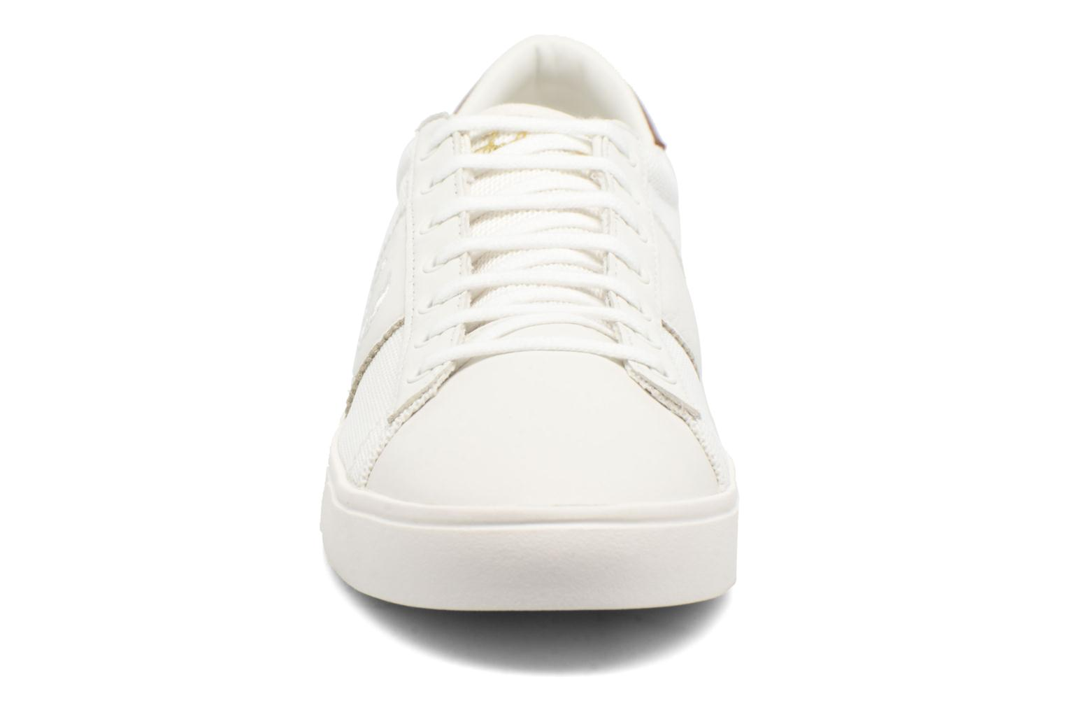 Baskets Fred Perry Spencer Mesh Leather Blanc vue portées chaussures