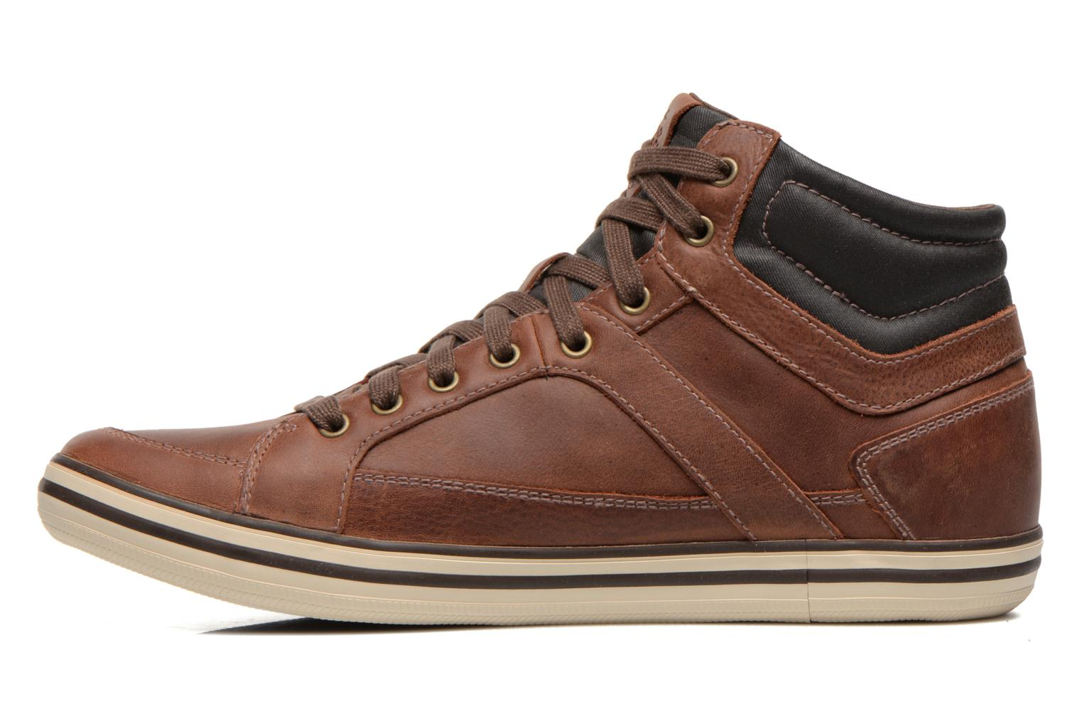 Trainers Geox U BOX E U44R3E Brown front view