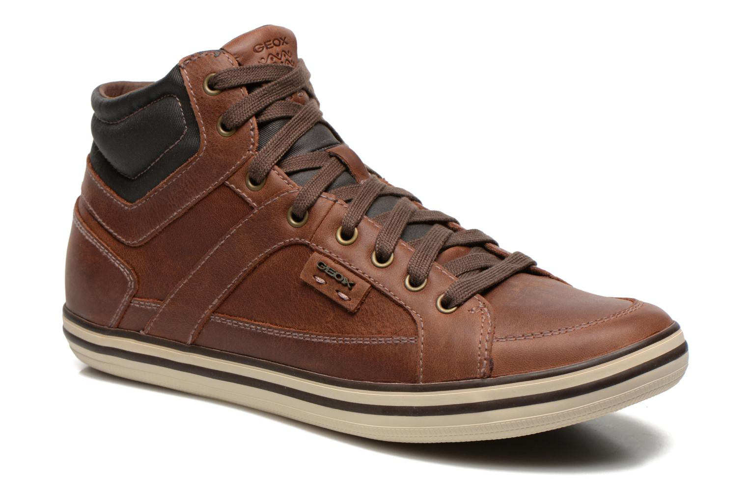 Trainers Geox U BOX E U44R3E Brown detailed view/ Pair view
