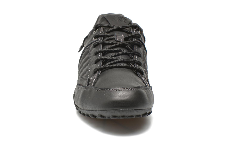 Baskets Geox U SNAKE B U5407B Noir vue portées chaussures
