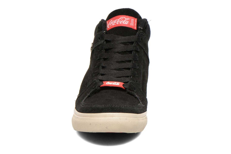Baskets Coca-cola shoes Tamy Suede Noir vue portées chaussures