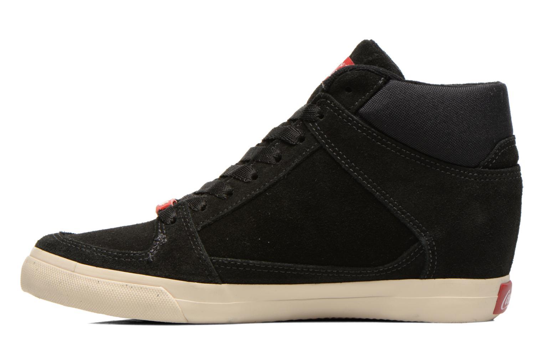 Baskets Coca-cola shoes Tamy Suede Noir vue face