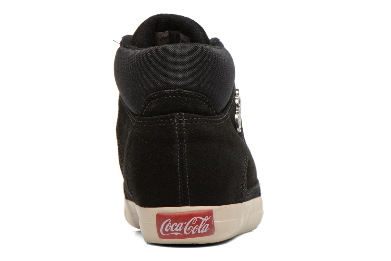 Baskets Coca-cola shoes Tamy Suede Noir vue droite