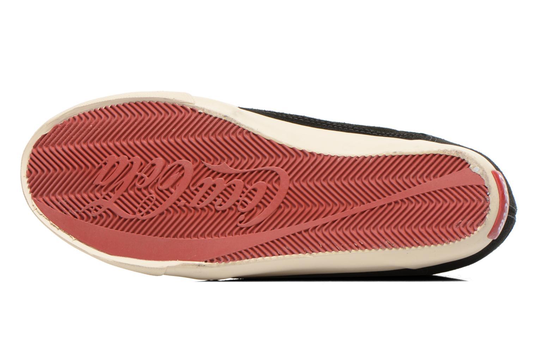Baskets Coca-cola shoes Tamy Suede Noir vue haut