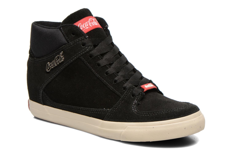 Baskets Coca-cola shoes Tamy Suede Noir vue détail/paire