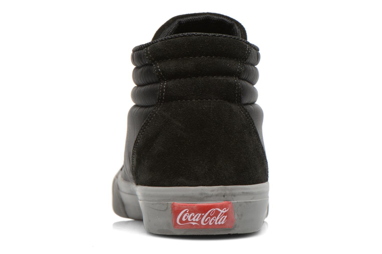 Baskets Coca-cola shoes Darma Nylon Noir vue droite