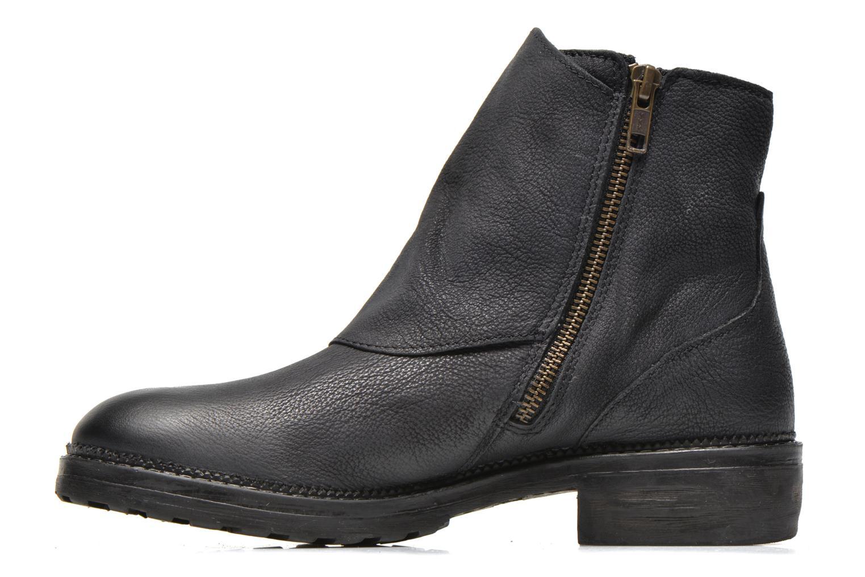 Bottines et boots Kickers Rouille Noir vue face