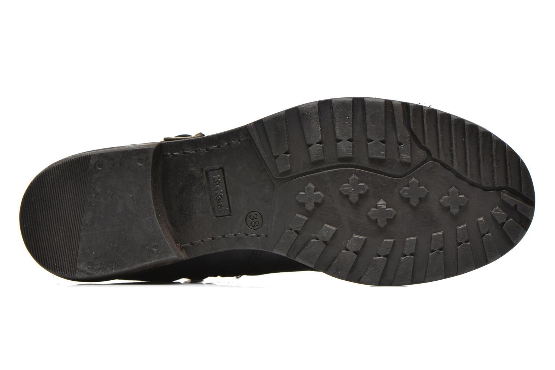 Bottines et boots Kickers Rouille Noir vue haut