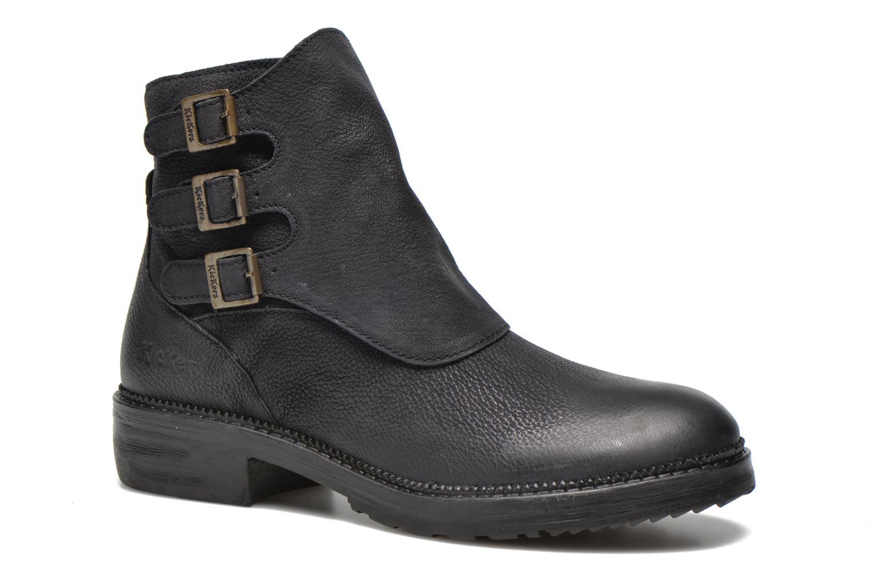 Bottines et boots Kickers Rouille Noir vue détail/paire