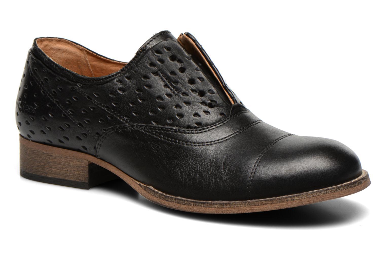 Loafers Kickers Punkychic Sort detaljeret billede af skoene