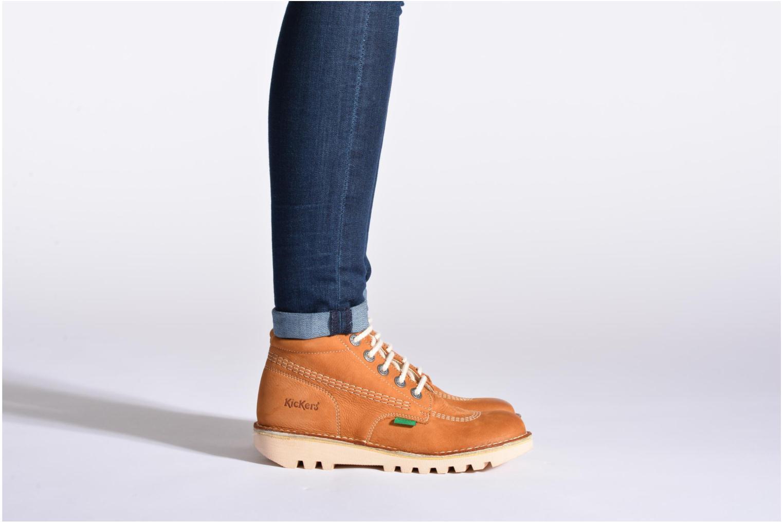 Chaussures à lacets Kickers Neorallye F Marron vue bas / vue portée sac