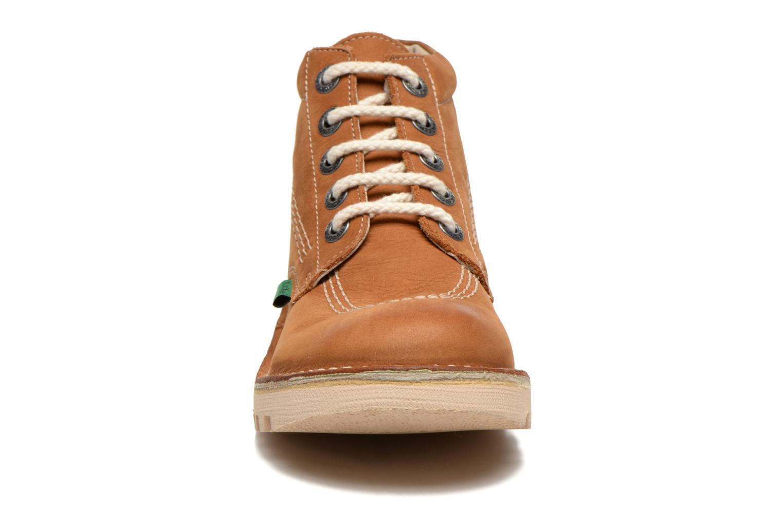Schnürschuhe Kickers Neorallye F braun schuhe getragen