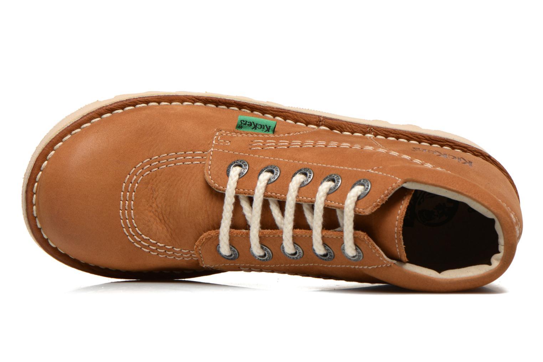 Chaussures à lacets Kickers Neorallye F Marron vue gauche