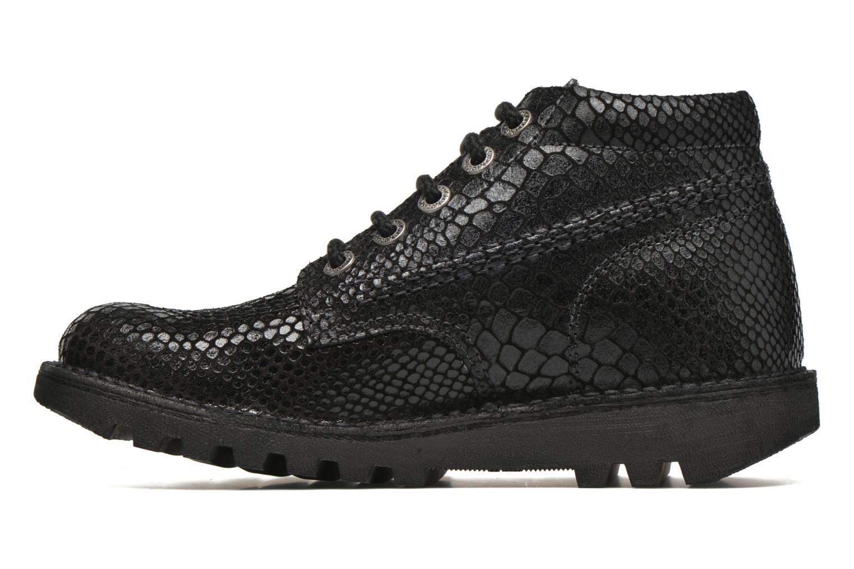 Chaussures à lacets Kickers Neorallye F Noir vue face