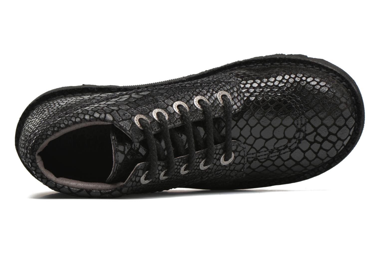 Chaussures à lacets Kickers Neorallye F Noir vue gauche