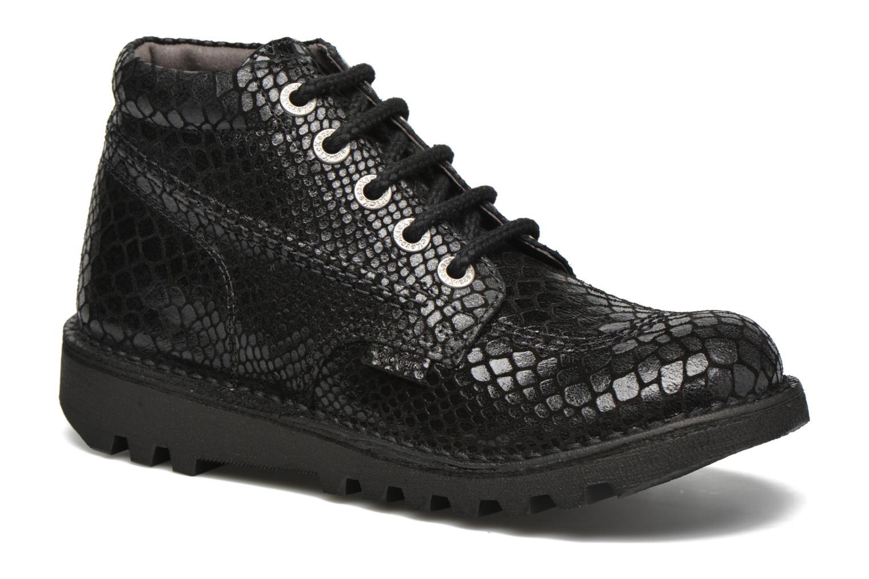 Chaussures à lacets Kickers Neorallye F Noir vue détail/paire