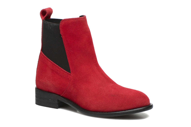Boots en enkellaarsjes Yep Cannelle Rood detail