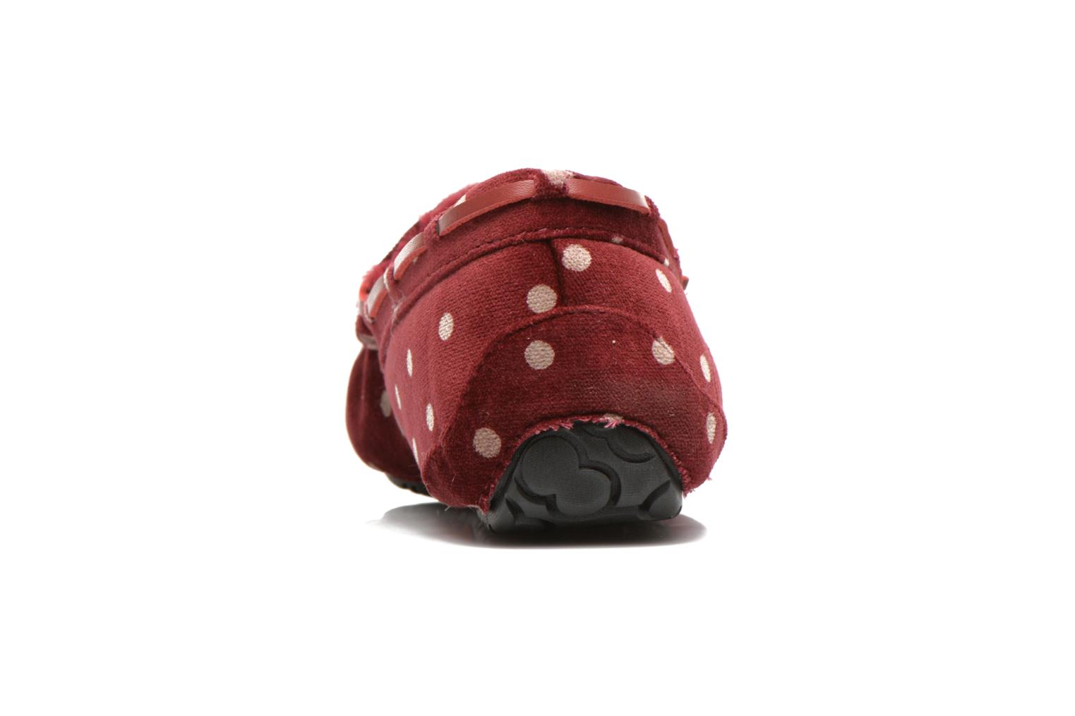 Chaussons Ruby Brown Mae Rouge vue droite