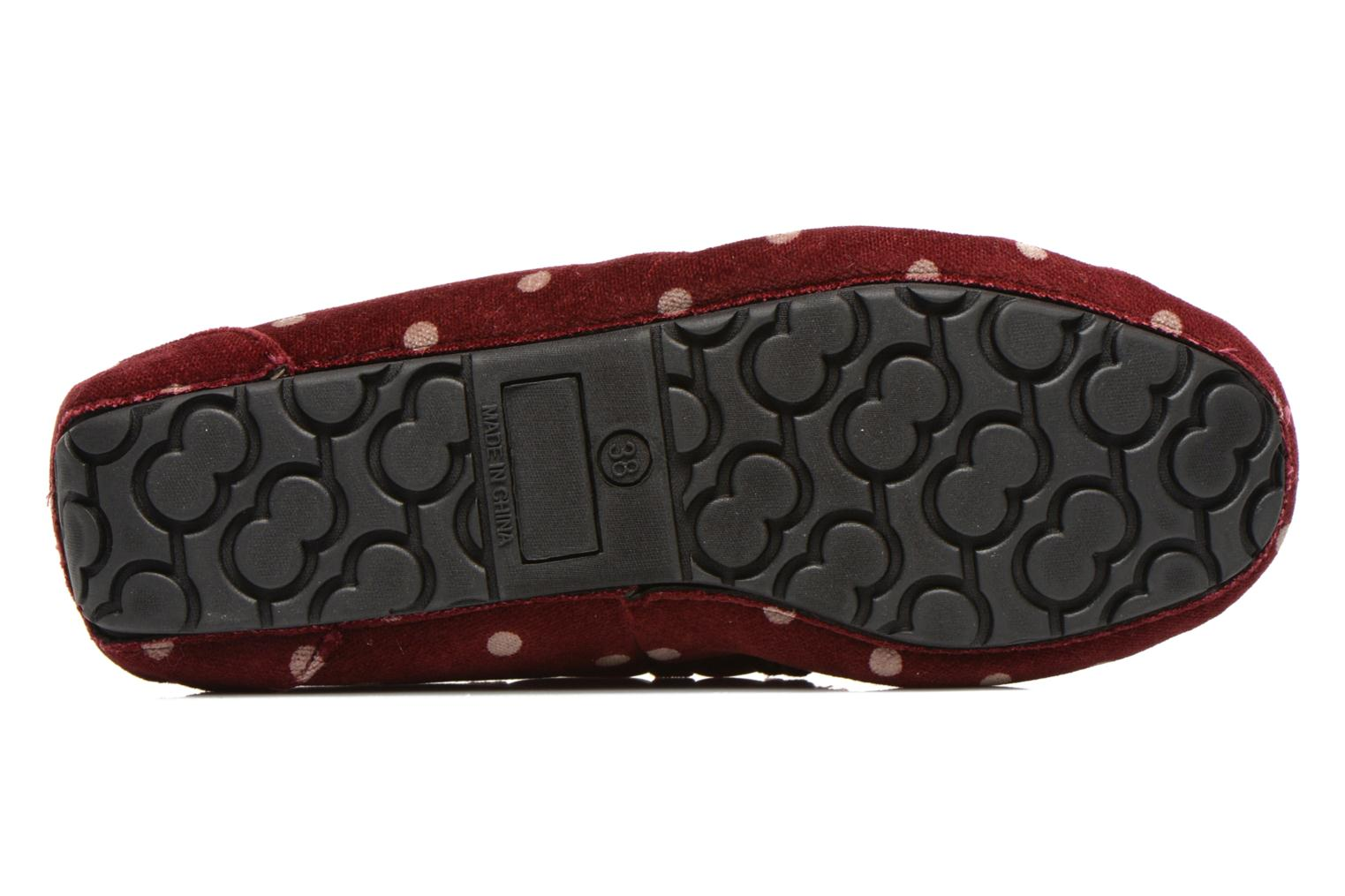 Chaussons Ruby Brown Mae Rouge vue haut