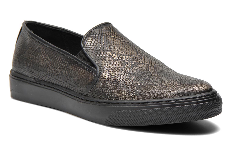Sneakers Bronx Fiama Zwart detail