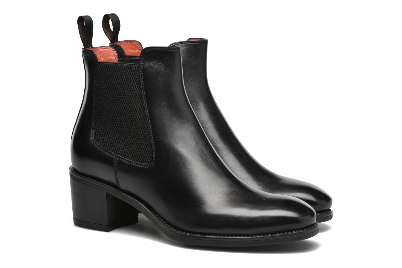 Bottines et boots Santoni Funny 52617 Noir vue 3/4