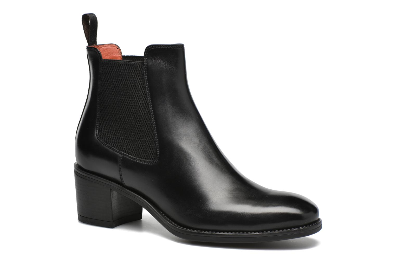 Ankle boots Santoni Funny 52617 Black detailed view/ Pair view