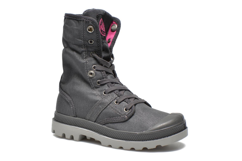 Bottines et boots Palladium Baggy Wax K Gris vue 3/4