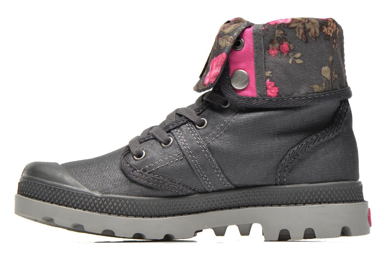 Bottines et boots Palladium Baggy Wax K Gris vue face