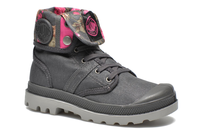 Bottines et boots Palladium Baggy Wax K Gris vue détail/paire