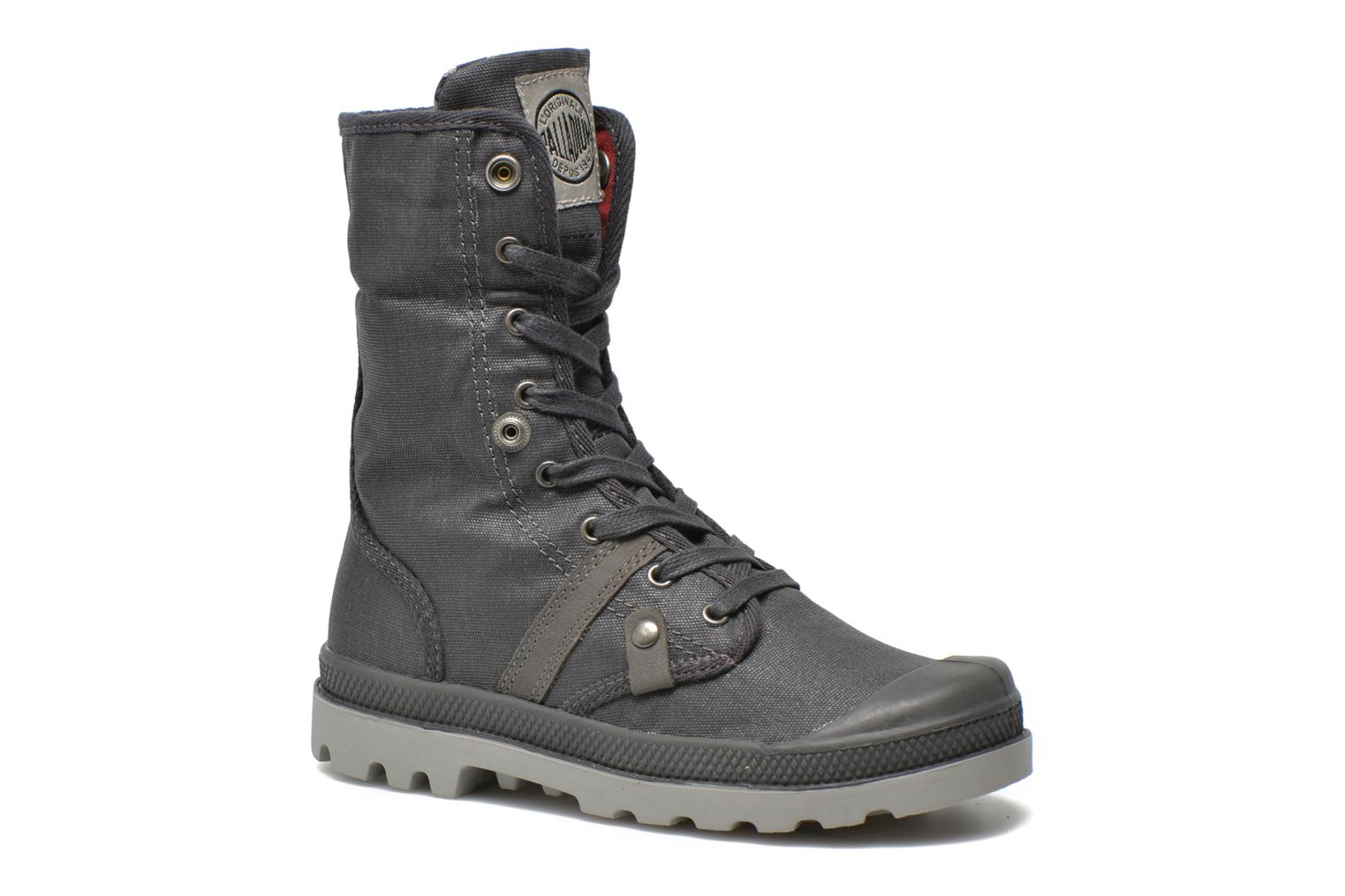 Bottines et boots Palladium Baggy Wax K Gris vue 3/4