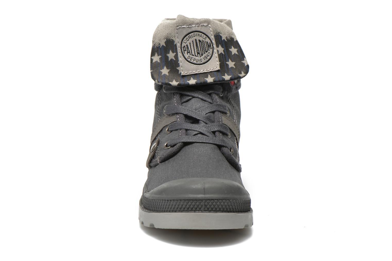 Bottines et boots Palladium Baggy Wax K Gris vue portées chaussures