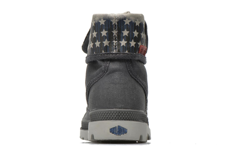 Bottines et boots Palladium Baggy Wax K Gris vue droite