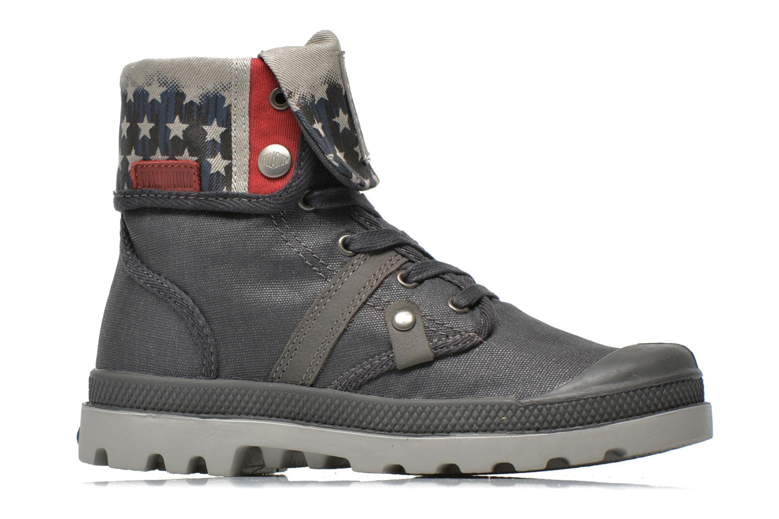 Ankle boots Palladium Baggy Wax K Grey back view