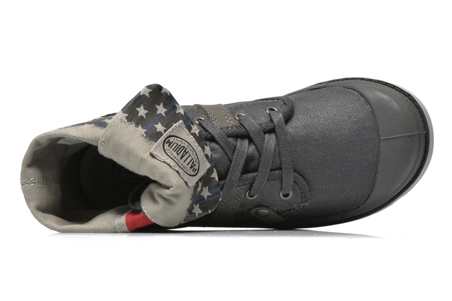 Ankle boots Palladium Baggy Wax K Grey view from the left