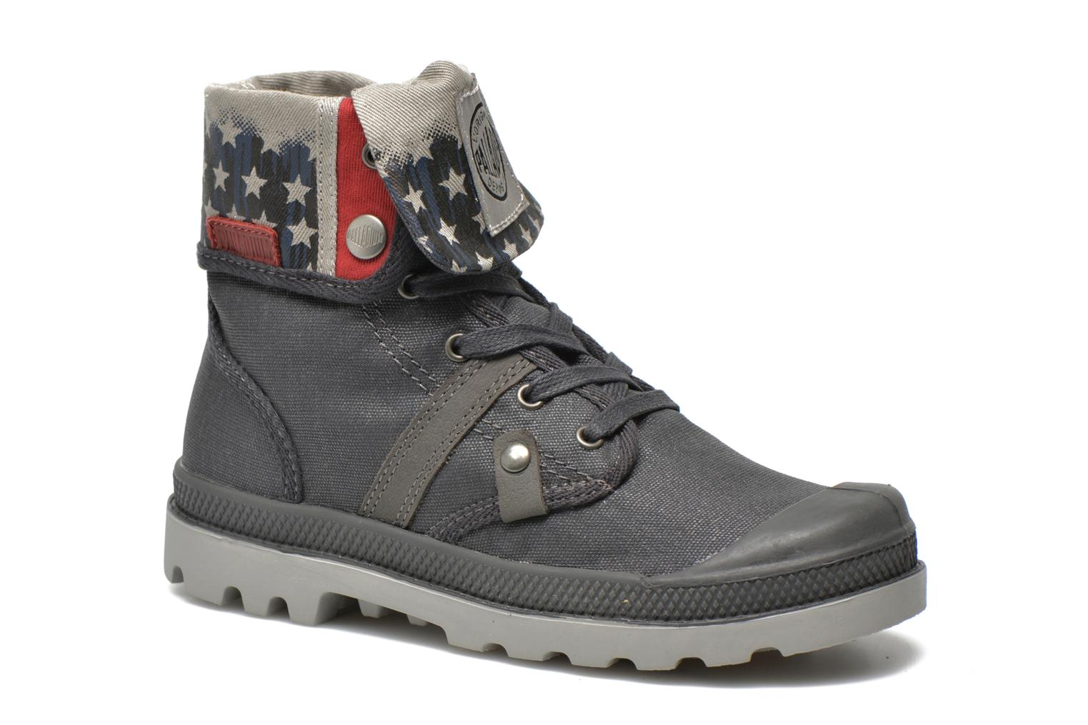 Ankle boots Palladium Baggy Wax K Grey detailed view/ Pair view