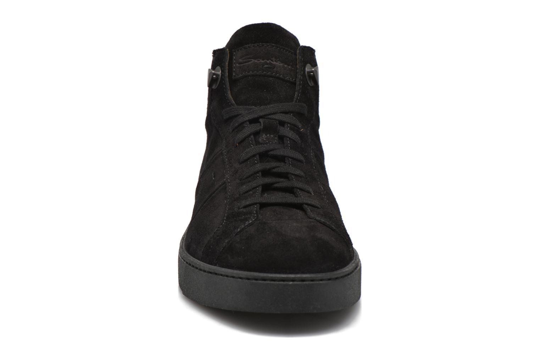 Baskets Santoni Gloria 14357 Noir vue portées chaussures