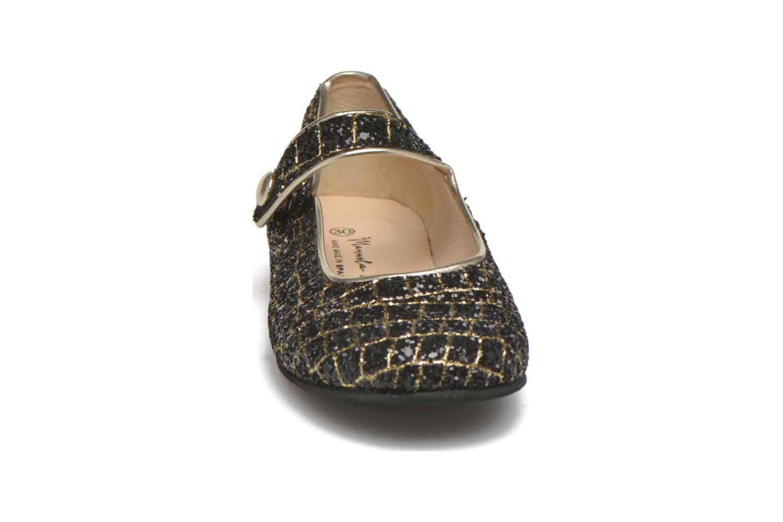 Ballerines Manuela de Juan Robine Noir vue portées chaussures