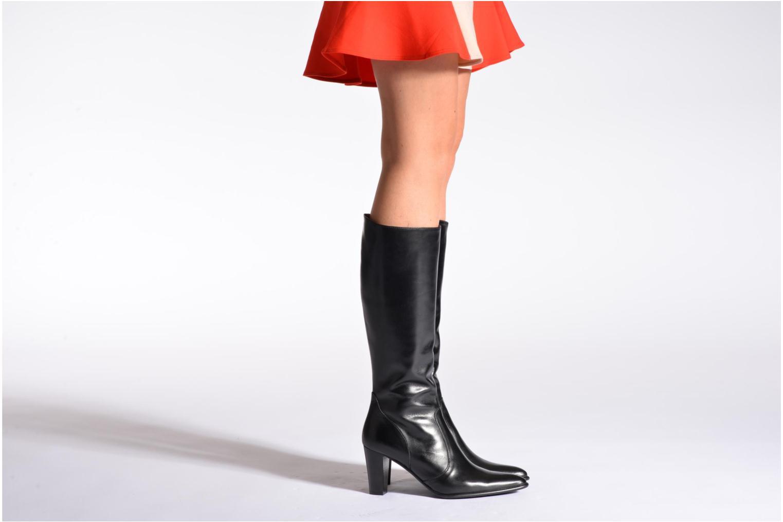 Stiefel Perlato Phefo schwarz ansicht von unten / tasche getragen